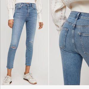 Citizens rocket crop highrise skinny jeans